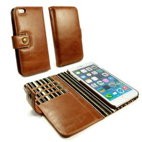 Tuff-Luv Alston Craig Vintage Leather plus Screen Protector for iPhone 7 - Brown