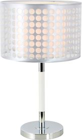 Bright Star - Polished Chrome Table Lamp With Silver Patterned Outer Shade