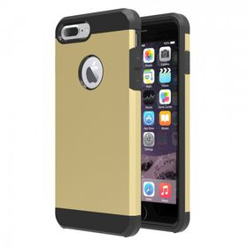 Tuff-Luv Twin Armour TPU Case for Apple iPhone 7 Plus - Gold