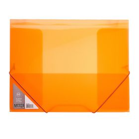Meeco A4 Carry Folder with Elastic Closure - Orange