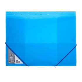 Meeco A4 Carry Folder with Elastic Closure - Blue