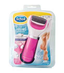 Scholl Velvet Smooth Electronic Foot File Pink With Diamond Crystals