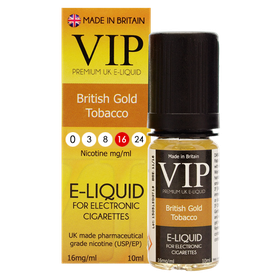 VIP E-Cigarettes 10ml British Gold Exclusive - 16mg