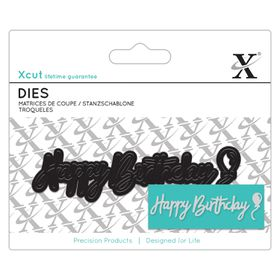 Xcut Mini Dies Sentiment - Happy Birthday
