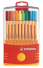 Stabilo Point 88 0.4mm Fibre Tip Pens ColorParade (Plastic Box of 20)