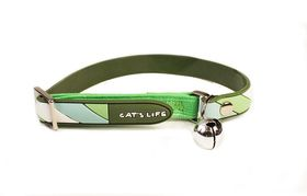 Cat's Life - Non Toxic PVC Candy Stripe - Small - Green