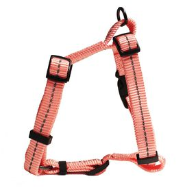 Dog's Life - Reflective Super soft Webbing H Harness - Extra-Large - Pink