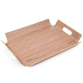 Home Essentials - Rectangular Wooden Tray - Walnut