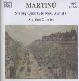 Martinu:String Quartets Nos. 3 and 6 - (Import CD)