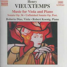 Vieuxtemps - Music For Viola And Piano;Diaz,Koenig (CD)