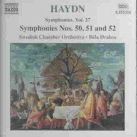 Bela Drahos - Symphonies Nos. 50, 51 & 52 (CD)