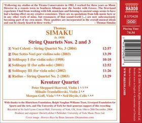 Simaku: String Quartets - String Quartets (CD)