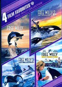 4 Film Favorites:Free Willy 1-4 - (Region 1 Import DVD)