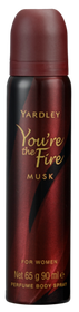 Yardley - You're the Fire - Musk Body Spray - 90ml