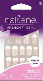 Nailene - French Finish Pink Acrylic Nails - 77484