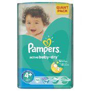 Pampers - Active Baby Nappies - Size 4+ - Giant Pack (70 count)