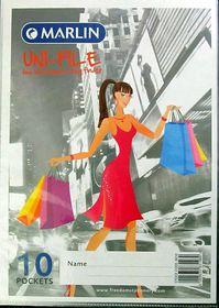 Marlin Uni-File A4 Soft Cover Display File - 10 Pocket