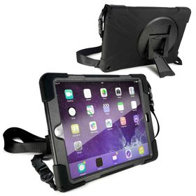 Tuff-Luv Rugged Armour Case with Shoulder Strap and stand for the Apple iPad Mini 4 - Black